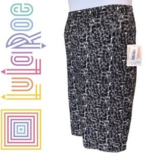 LuLaRoe Cassie Pencil Skirt Black & White S